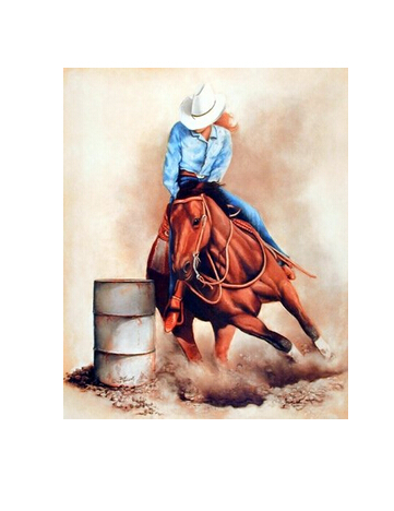 Western Cowgirl Custom Wall Paper HD Pictures and Printings Hot posters Wall Sticker office home decor U1-601