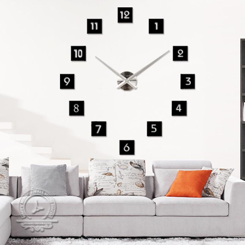 2015 special large diy quartz 3d wall clock Living Room big acrylic watch mirror stickers modern design home decor - YIWU MINO HOMEDCOR store