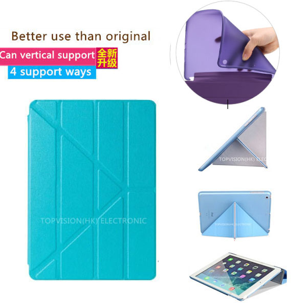 Hard &tpu silicone flexible soft back slim magnetic apple ipad air 1 case cover leather smart 5 thin 360 rotate - SUREHIN UNIQUE Store store