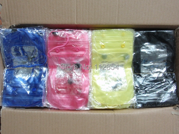 Free Shipping+Wholesale Waterproof Phone Pouch Case Bag Waterproof Mobile Phone Bag,100pcs/lot(China (Mainland))