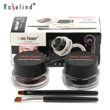 ( Mix Sales ) Black + Brown Colors Long-Wear Gel Eyeliner, Smudge- Proof & Water Proof Eye Liner, Free Shipping,1011