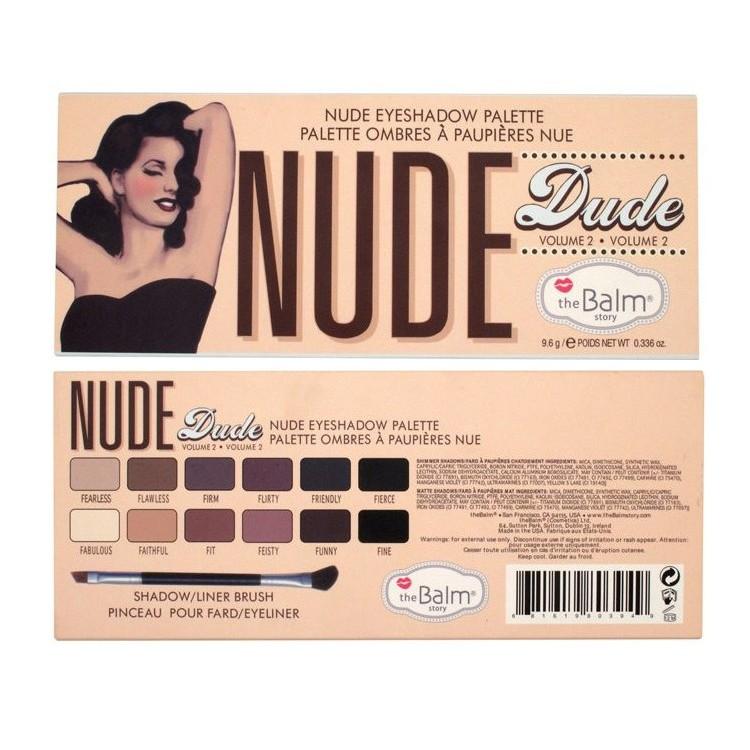 Hot Sale Brand New Thebalm Makeup The Balm Cosmetics 12 Colors Nude Dude Volume 2 Eyeshadow Make Up Palette Eye shadow(China (Mainland))