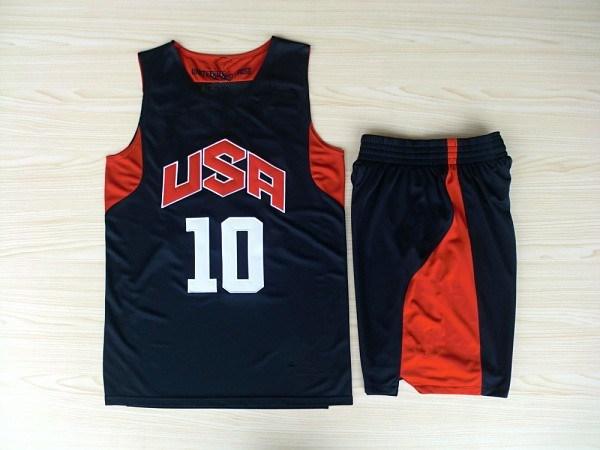 The American dream ten star team jersey shirt men basketball youth jerseys(China (Mainland))