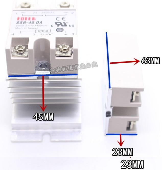 Здесь можно купить  free shipping 10pcs  SSR-40DA SSR Solid State Relay Module Output AC 90-480V Input for DC 3-32V 40A  Электротехническое оборудование и материалы