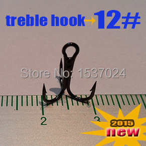 Free shipping Treble Fishing Hooks 12# 500pcs direct factory best high carbon steel hooks(China (Mainland))