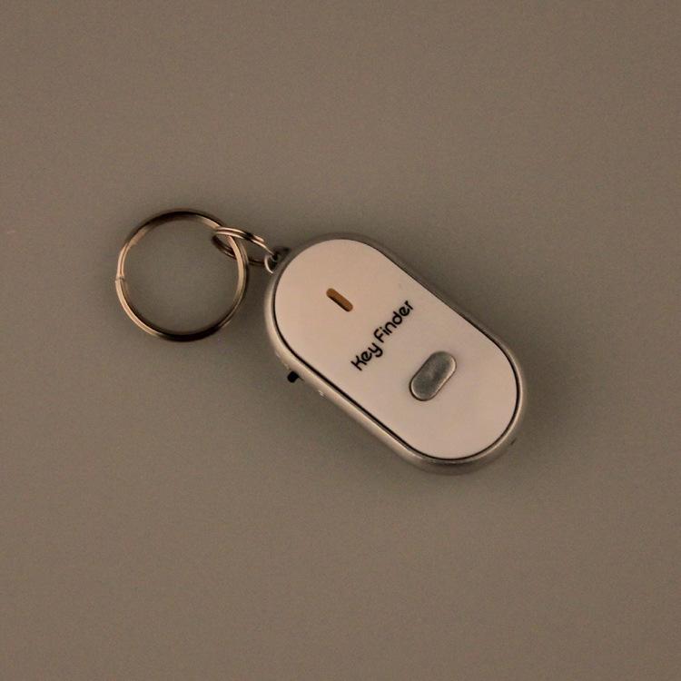 Смарт-чехол искатель ключевого свистка датчики белый 1 шт. брелок звук из светодиодов со свистком хлопки искатель локатора найти потерянный брелок искатель