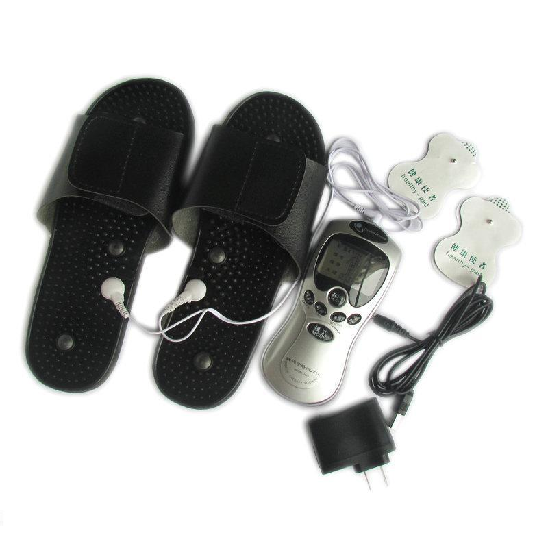Tens unit Acupuncture Digital Therapy Machine come with foot Massage slippers/shoes & 6 electrode pads(China (Mainland))