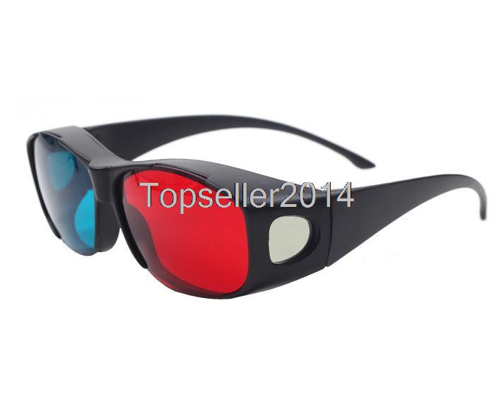 2015 Universal Type 3D Glasses/ Color Red Blue Cyan 3D Glasses Anaglyph 3D Plastic Glasses X1667(China (Mainland))