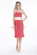 Free shipping Polka Dot Vintage Retro Swing Rockabilly 1950's style Dress