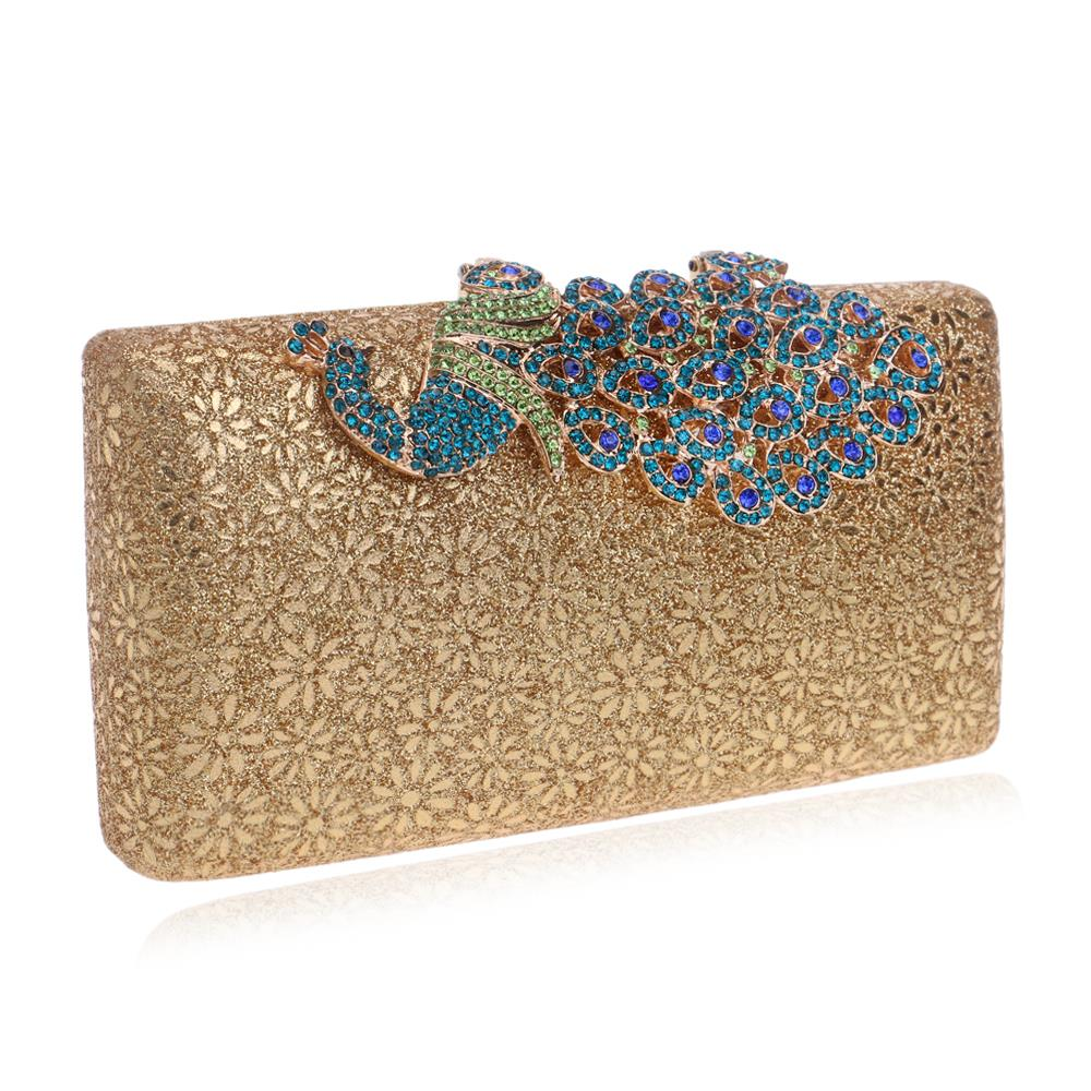 HOT Peacock Clutches Evening Bags Flower Handbags Clutches ...