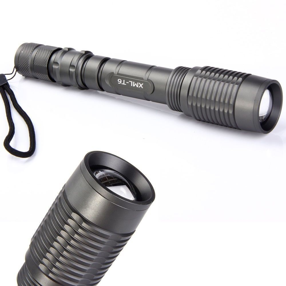 CREE XM L T6 2000 Lumen LED Flashlight Torch Zoomable Zoom ...