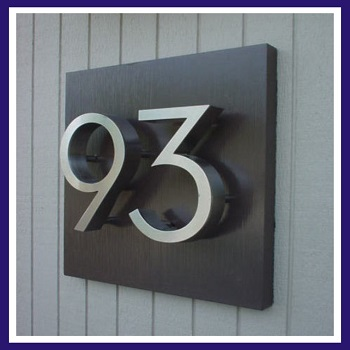 custom Plaques 30*25cm stainless steel Sign add numbers & Letters Can 0-9 o ra-z spell a name initial etc(China (Mainland))