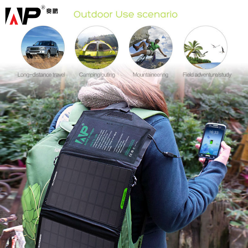 ALLPOWERS Portable Foldable Solar Charger 5 Voltage 8 Watt Outdoor Solar Panel Charger for iphone samsung sony LG motorola HTC.(China (Mainland))