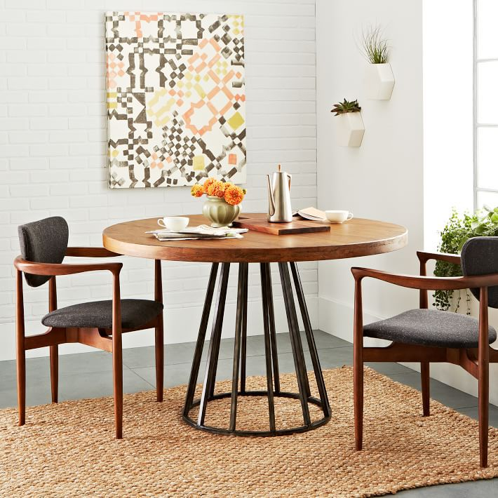 Nordic ikea solid wood dining tables and chairs round the whole round table o - Table et chaise ikea ...