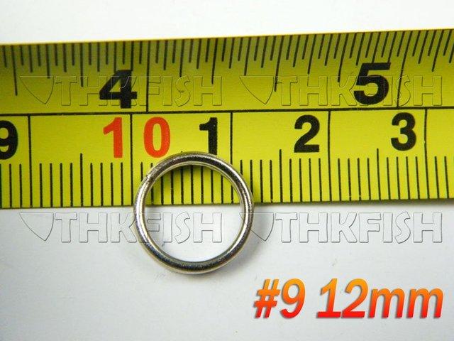 500X Pack #9 Dia:12mm Fishing Split Ring Silver  Stainless Steel Double Loop Split Open