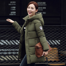 Winter Jacket Women 2016 New Winter Korean Hooded Thick Plus Size Loose Cotton-padded Long Coat Women's Clothing Warm Outwear