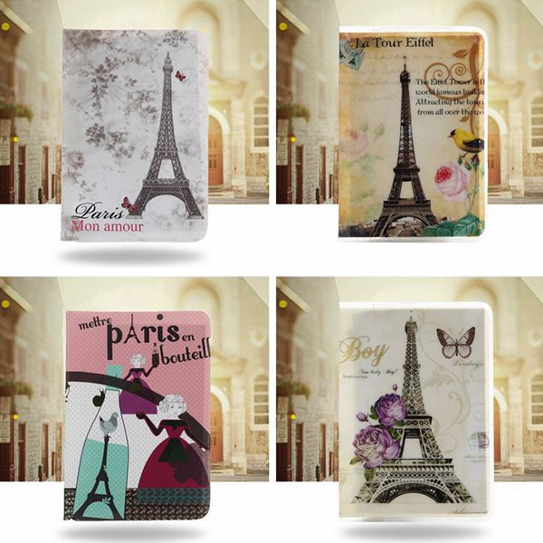 Lovely Eiffel Tower Patterns Passport Holder Cover Identity Document Folder Travel Caed Case Bag 1pcs<br><br>Aliexpress
