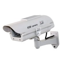 White Outdoor Solar Powered Dummy CCTV Security Surveillance fake Camera SE012