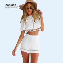 2 шт. комплект женщины тропический Большой размер женской одежды белого свадебные платья короткие спинки bodycon платье прямая поставка
