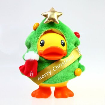 holiday sale free shipping semk luft b duck toys,B.duck figure cos Christmas tree for Piggy bank  23CM Height for xmas gift