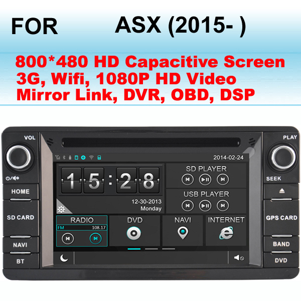 For Mitsubishi ASX Car stereo (2015- ) Support WIFI 3G internet, Support GPS Dual Zone (Listen Radio/CD While GPS Image)(China (Mainland))