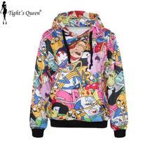 G225 adventure time Coat With Pocket 3d Digital Print Pullovers Sports Suit sweatshirts harajuku hoodies punk(China (Mainland))
