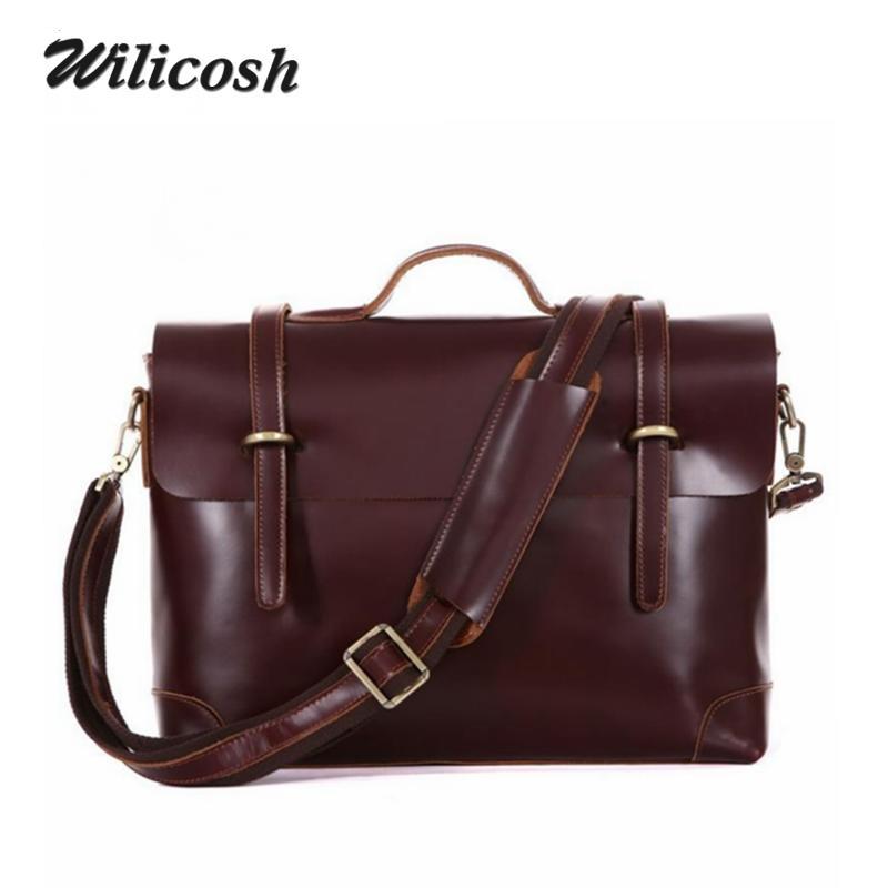 High Quality Italian Leather Handbags Genuine Leather Men Messenger Bags Brand Shoulder Bags Vintage Travel Bag Portfolio DB5598(China (Mainland))
