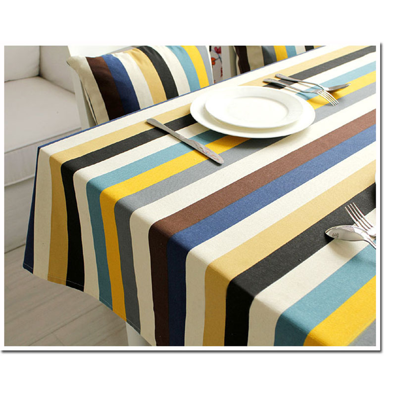 Cotton Table Cloth Woven Blue Striped Printed tablecloth Home Toalha De Mesa Nappe Mantel Manteles Para Mesa Table Cover Bugaboo(China (Mainland))