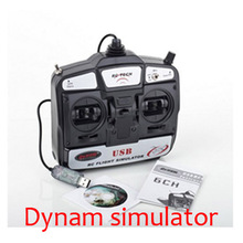 New Arrival Dynam 6CH USB 3D Helicopter Airplane Flight Simulator--S408 for the beginner RC Quadcopter Drone Fast Shipping toys(China (Mainland))