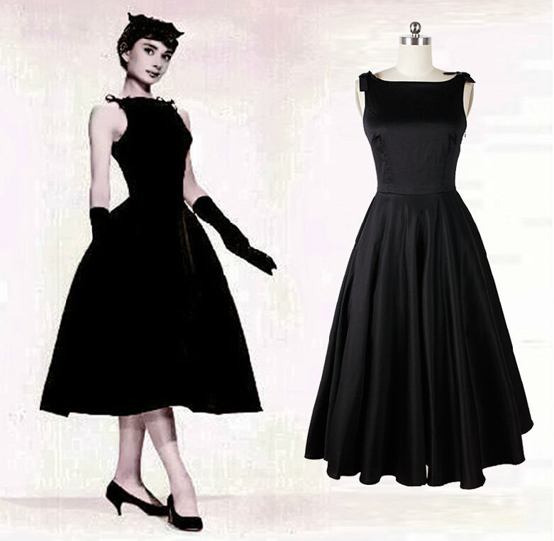 Audrey Hepburn Vintage Style 50s Dresses Little Black Tea