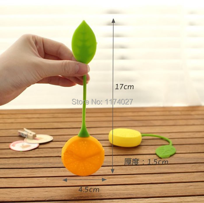Hot sale cute Lemon Silicone Loose Tea Strainer Herbal Spice Infuser Filter Tools  Hot sale cute Lemon Silicone Loose Tea Strainer Herbal Spice Infuser Filter Tools