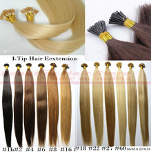 "18"" 100g/pack pre bonded stick hair I tip Keratin hair extensions 100% Indian Human Remy Hair(China (Mainland))"