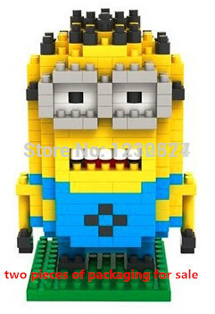 Hot lsale LOZ Despicable Series building blocks two eye educational toys Children lego - Adult store supplies