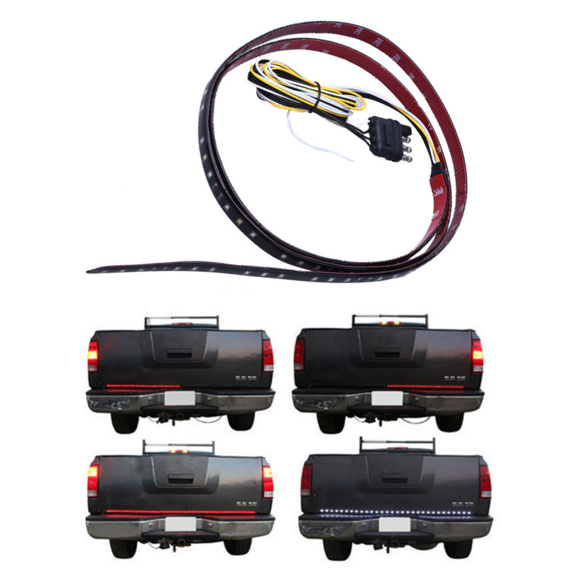 Car Tail Gate Signal Turn Brake LED Strip Light 49 inch 72SMD Door Light Strip 12M For Pick Up Truck IP65 Waterproof 2.5W Lights(China (Mainland))