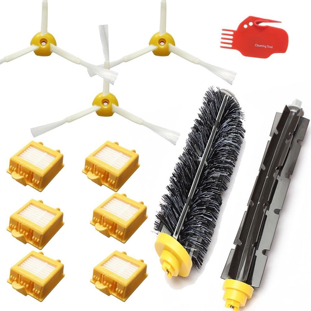 12Pcs/lot Brush kit set Hepa Filter & side brush Replacement for iRobot Roomba 700 Series 770 780 790 vacuum cleaner accessories(China (Mainland))