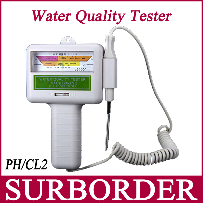 Portable digital water quality ph cl2 chlorine tester level meter ph tester for swimming pool for Electronic swimming pool water tester