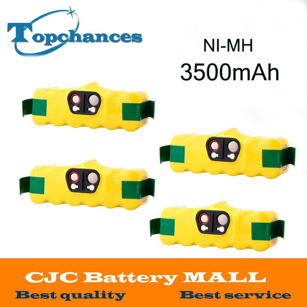 4pcs 14.4V 3500mAh Ni-MH Battery for iRobot Roomba Vacuum Cleaner for 500 560 530 510 562 550 570 581 610 650 790 780 532 760(China (Mainland))