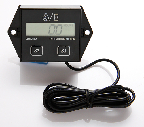Inductive TACH RPM Tachometer Hour Meter for motorcycle marine motocross pit bike chainsaw Hot selling