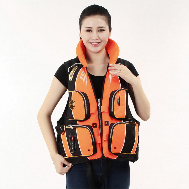 Survival Life Jacket Removable Floating Material Professional Life Vest for Fishing Water Boating Drifting Safety Swimming Vest(China (Mainland))