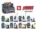 Green arrow Superman Batman SY283 Avenger Heroes 8pcs lot Minifigures Building Block Minifigure Toys Best Toys