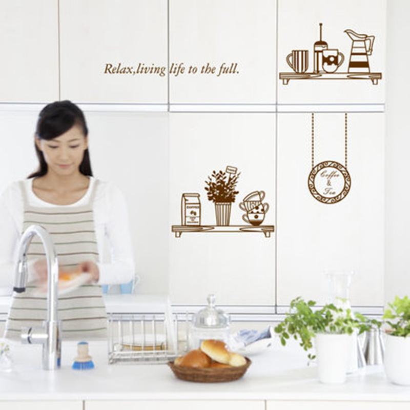 홈 장식 레스토랑 주방 배경 벽지 창조적 냉장고 스티커 주방 ...