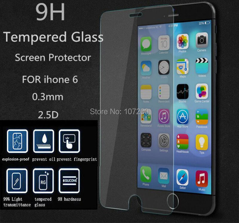 2.5D edge 0.2mm Tempered Glass Film Guard Screen Protector iPhone 6( 4.7 inch) + 6 Plus (5.5 - Lino Electronics Mall store