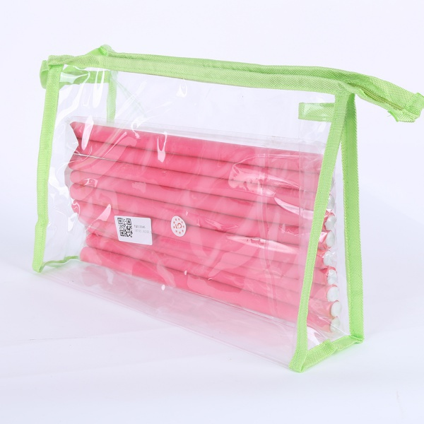 Transparent Cosmetic Case Clear Plastic PVC Travel Cosmetic Make Up Toiletry Bag Zipper(China (Mainland))