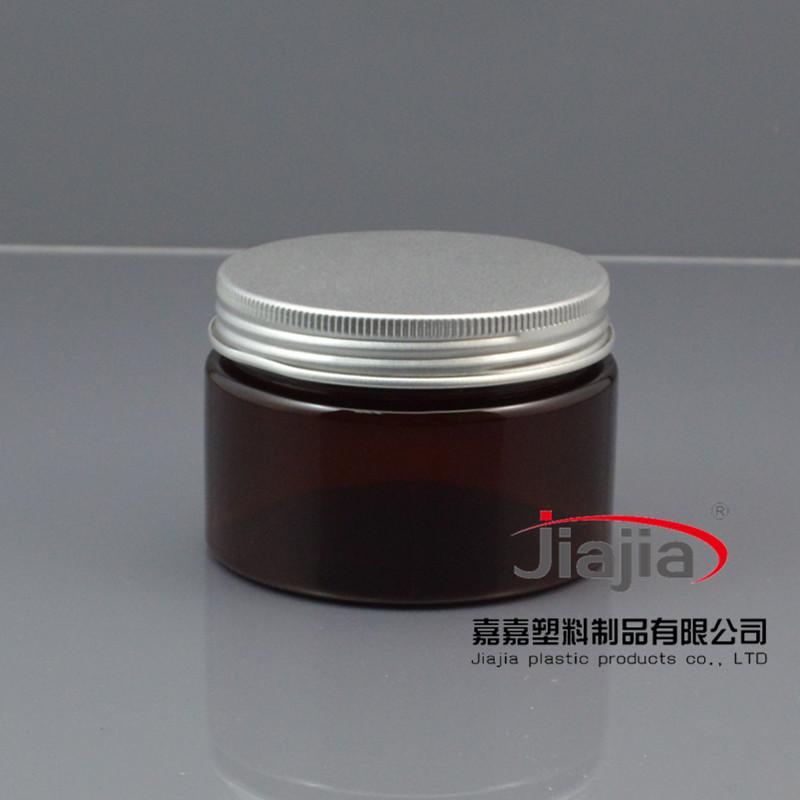 50 unids/lote 120 ml marrón tarro de crema, plástico Cometic embalaje 120 g, PET ámbar envase de plástico con cubierta de aluminio(China (Mainland))