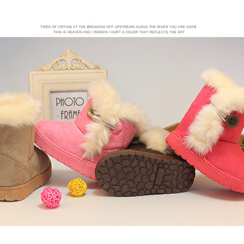 Drop shipping New Baby Shoes Super Warm Winter First Walker Kids/Toddlers Snow Boot Baby Boy Girls Candy Color Ankle Boots <br><br>Aliexpress