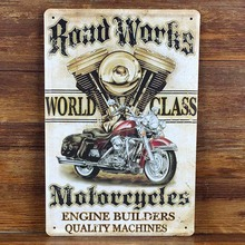 Hot sales motorcycle Tin signs Retro decoration House Cafe bar Vintage Metal plaque Painting Poster decor 20X30 CM Free shipping(China (Mainland))