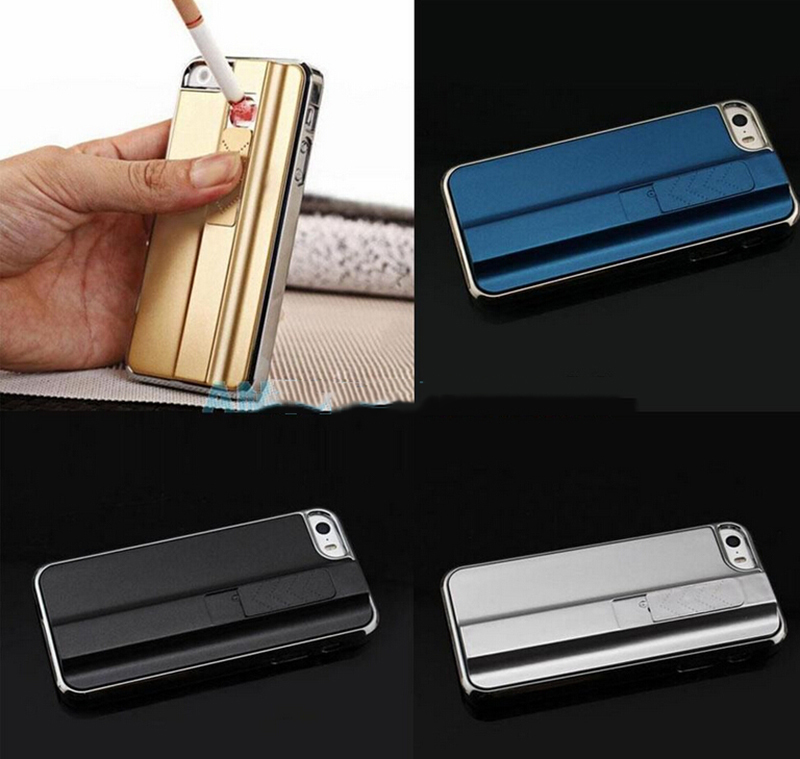 NEW STYLE Cool Phone Cigarette Fire Lighter Case Cover for iPhone 5/5S(China (Mainland))