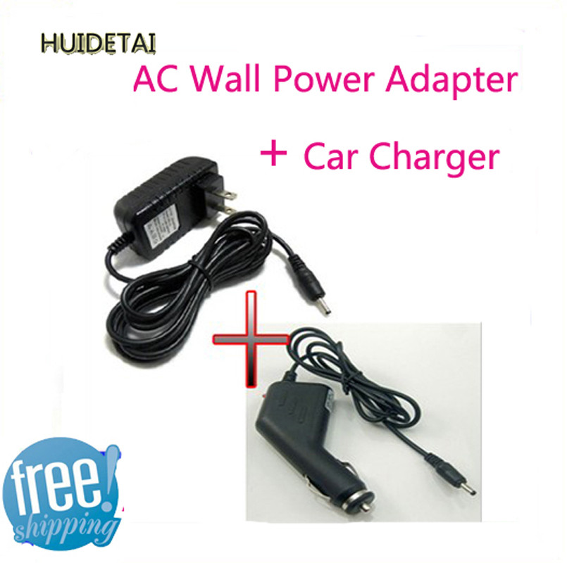 5v 2A Universal AC / DC Power Supply Adapter Wall Charger + DC Car Adapter Charger For PIPO M9 Ampe A10 Sanei N10 Free Shipping(China (Mainland))