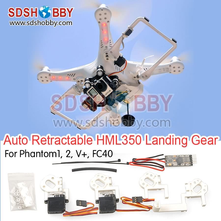 HML350Pro FPV Retractable Landing Gear Kit for DJI Phantom 1 2 vision+ FC40 Quadcopter