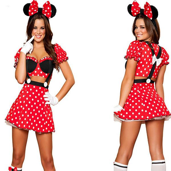 mujer minnie mouse traje de halloween al por mayor de alta calidad ...